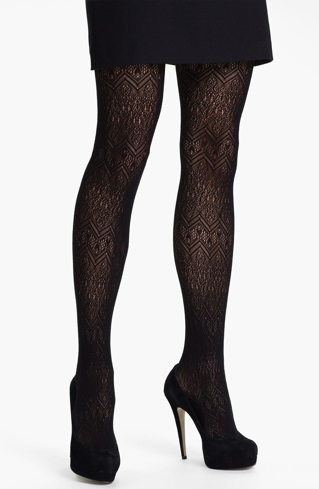 Main Image - Kensie 'Zigzag Mesh' Tights