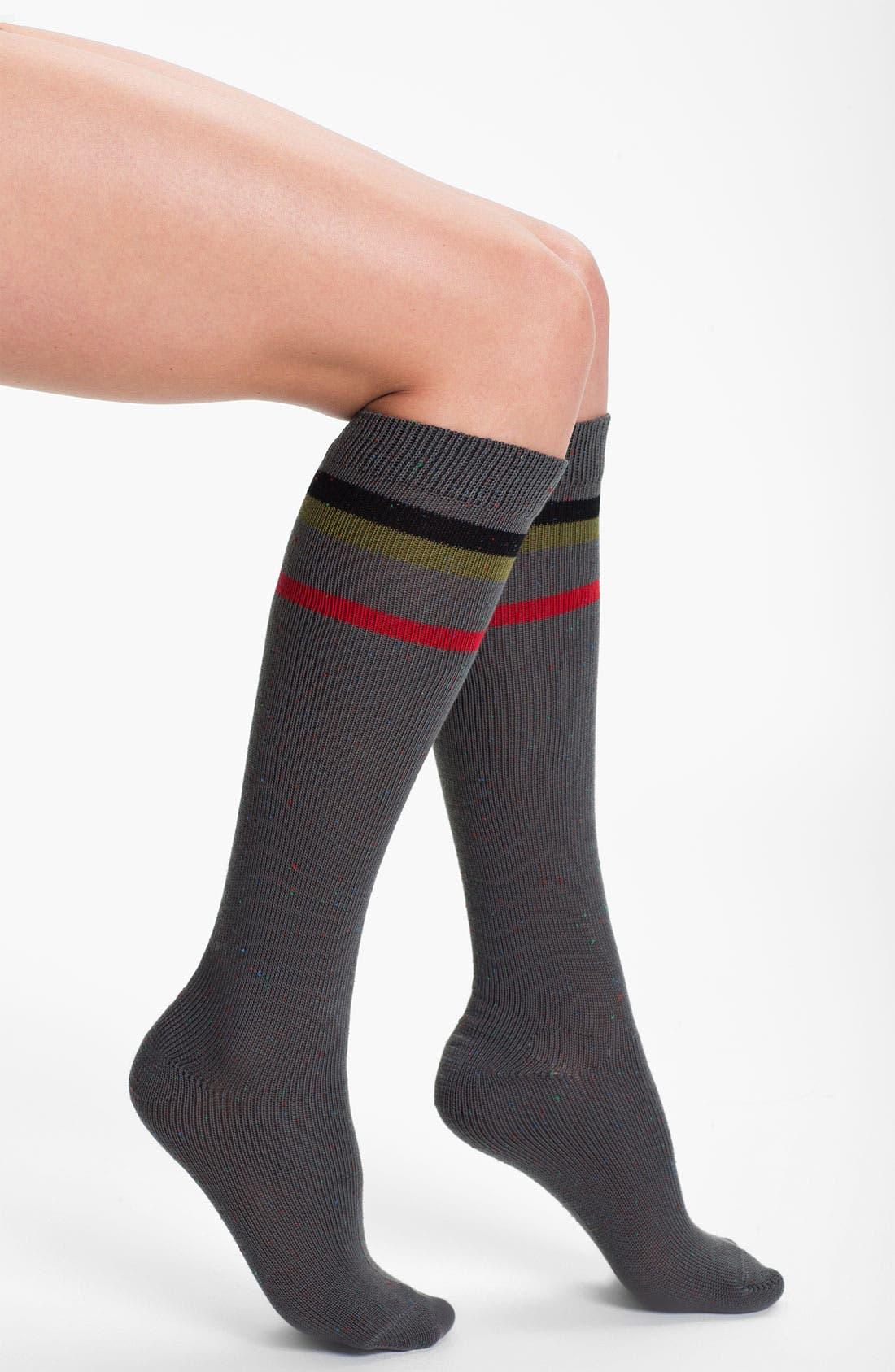 Main Image - Kensie Stripe Knee Highs