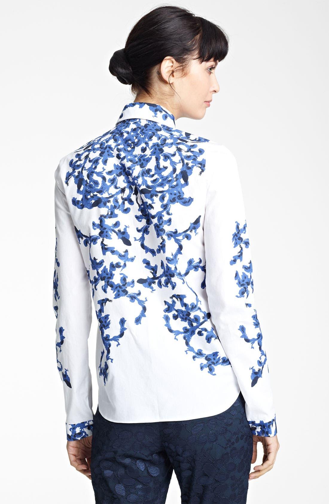 Alternate Image 2  - Erdem Print Woven Shirt