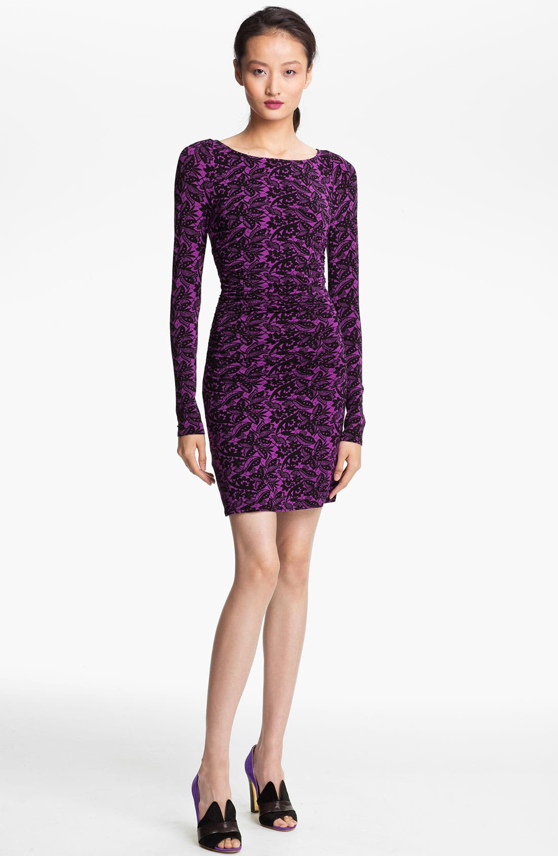 Main Image - Tracy Reese Ruched Batik Print Jersey Dress