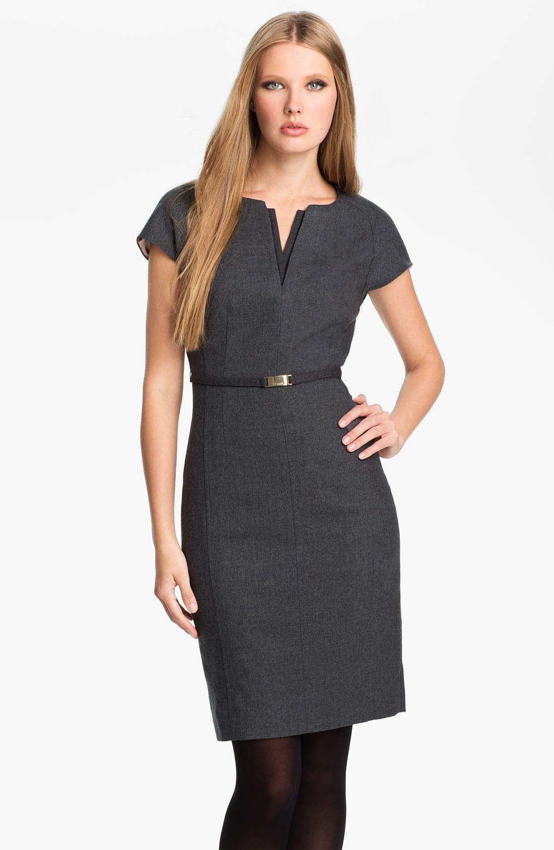 Alternate Image 1 Selected - Ted Baker London 'Neyoad' Wool Sheath Dress