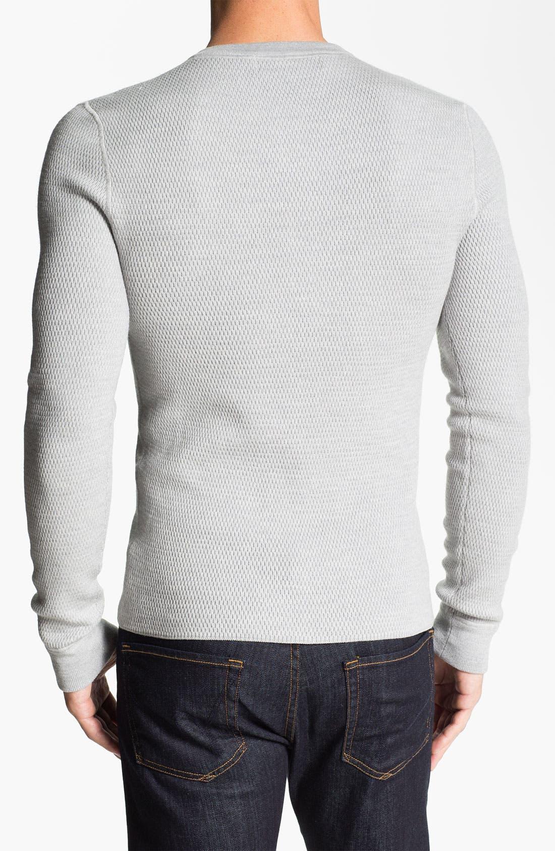 Alternate Image 2  - Michael Kors Merino Wool Thermal Henley