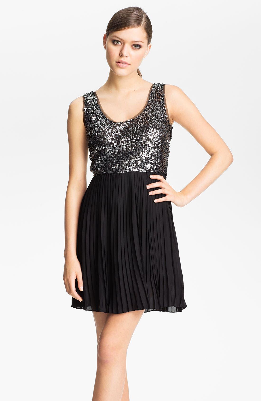 Alternate Image 1 Selected - BB Dakota 'Olsen' Sequin & Chiffon Blouson Dress