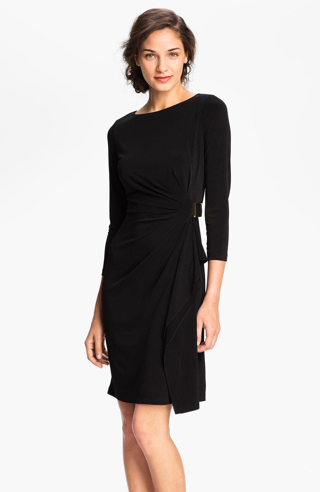 Alternate Image 1 Selected - Eliza J Side Drape Jersey Sheath Dress