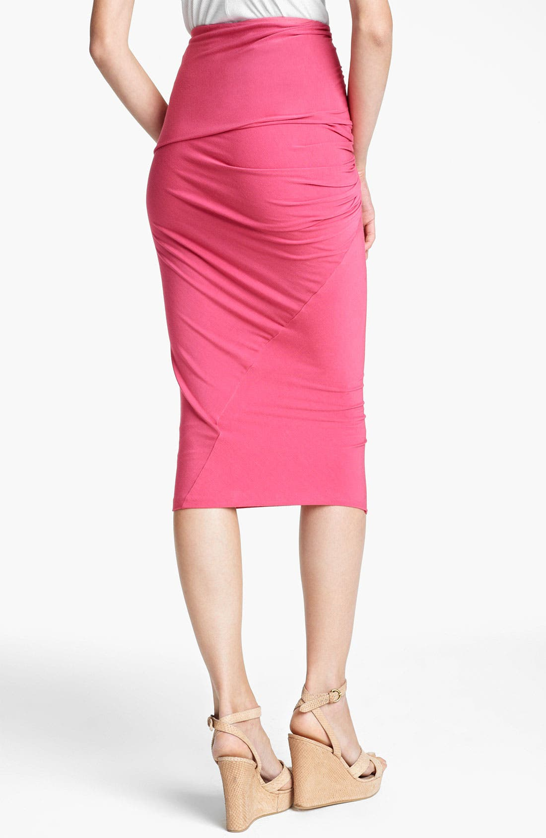 Alternate Image 2  - Donna Karan Collection Draped Jersey Skirt