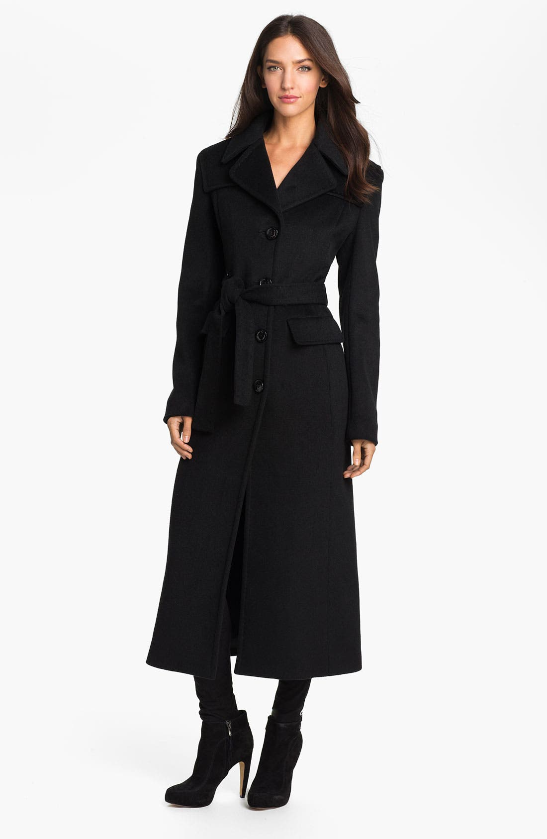 Alternate Image 1 Selected - Kenneth Cole New York Long Wool Blend Coat