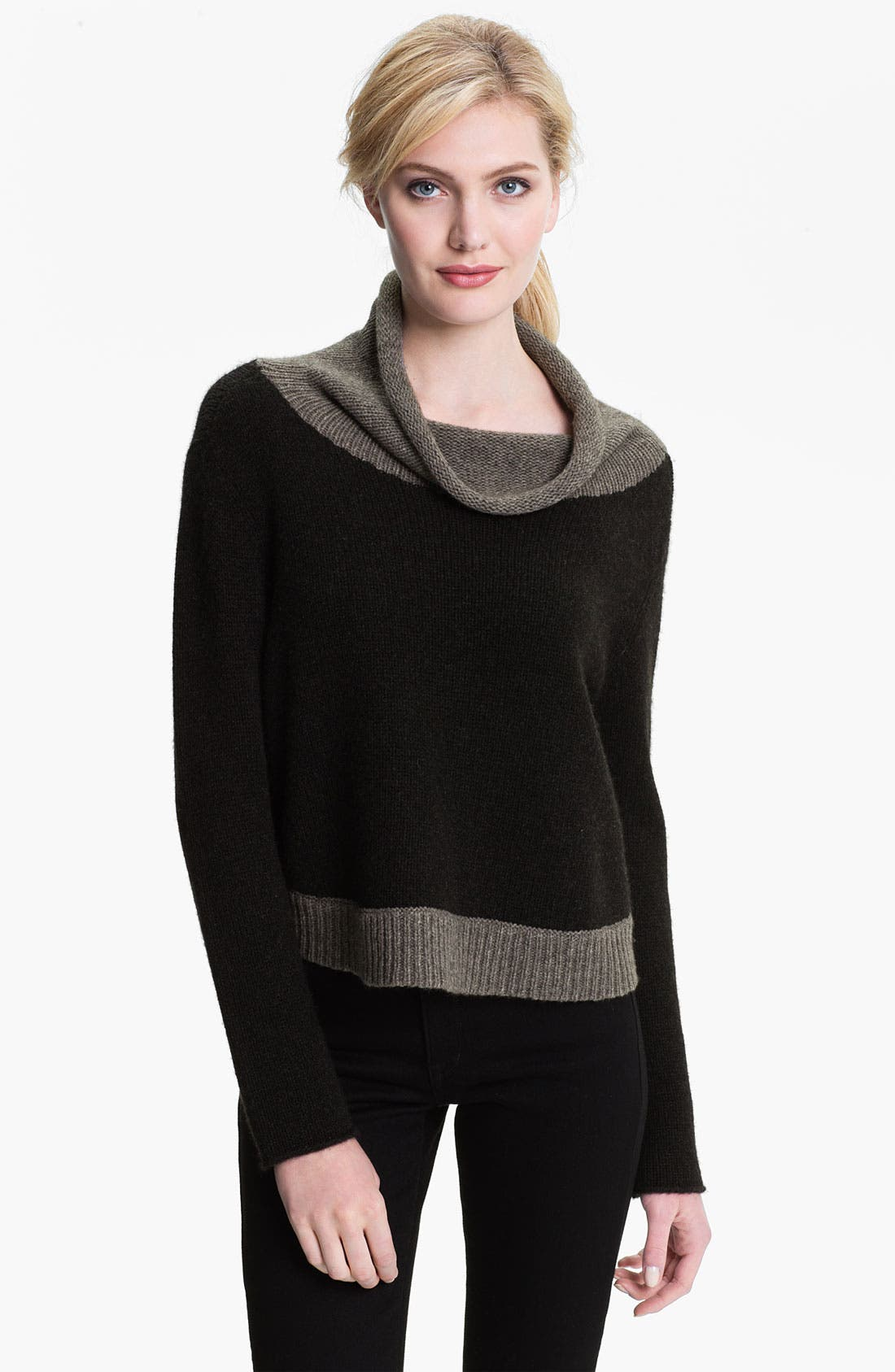 Alternate Image 1 Selected - Eileen Fisher Funnel Neck Crop Sweater (Online Exclusive)
