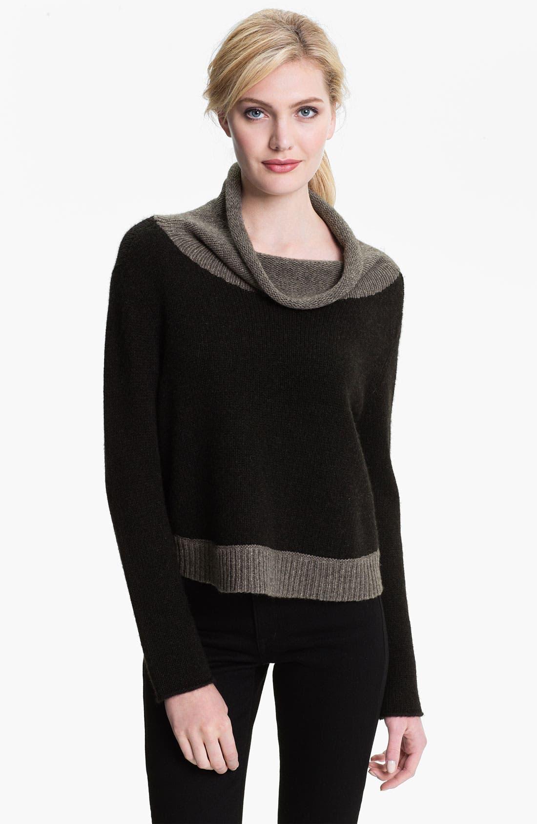 Main Image - Eileen Fisher Funnel Neck Crop Sweater (Online Exclusive)