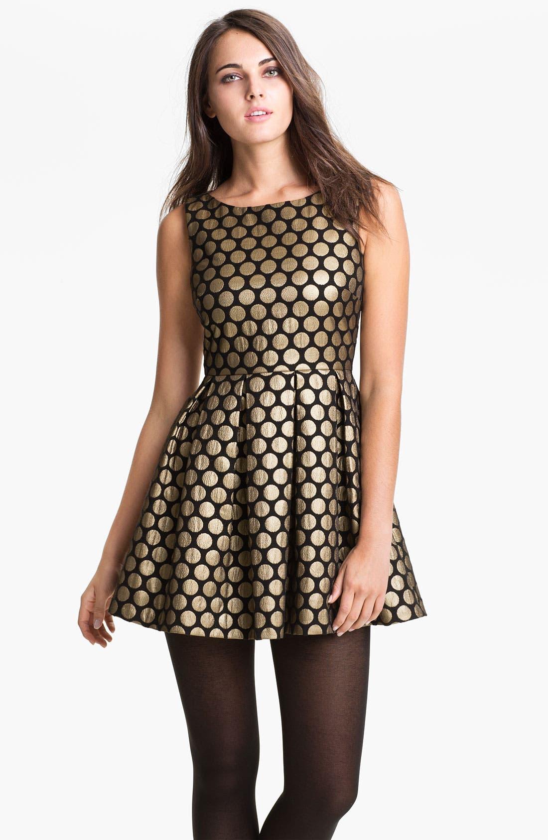 Alternate Image 1 Selected - Vince Camuto Dot Jacquard Dress