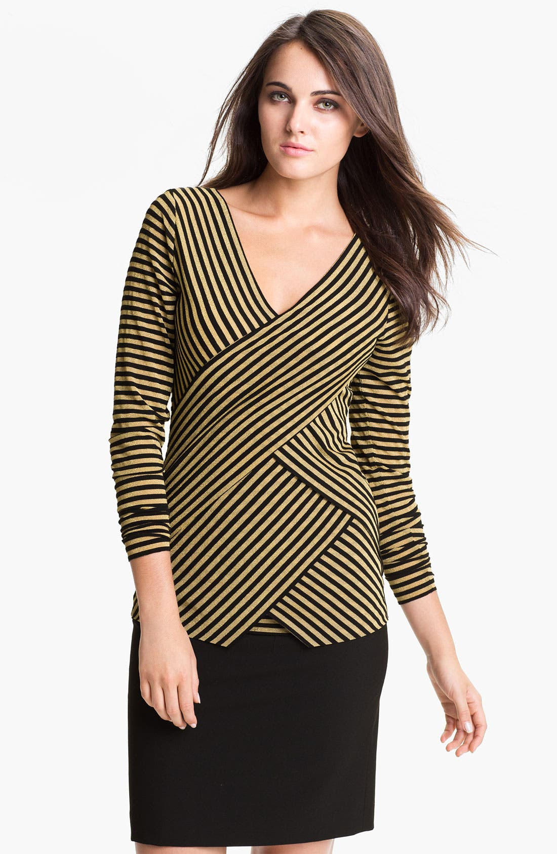 Alternate Image 1 Selected - Vince Camuto 'Sparkle Stripe' Zigzag Top