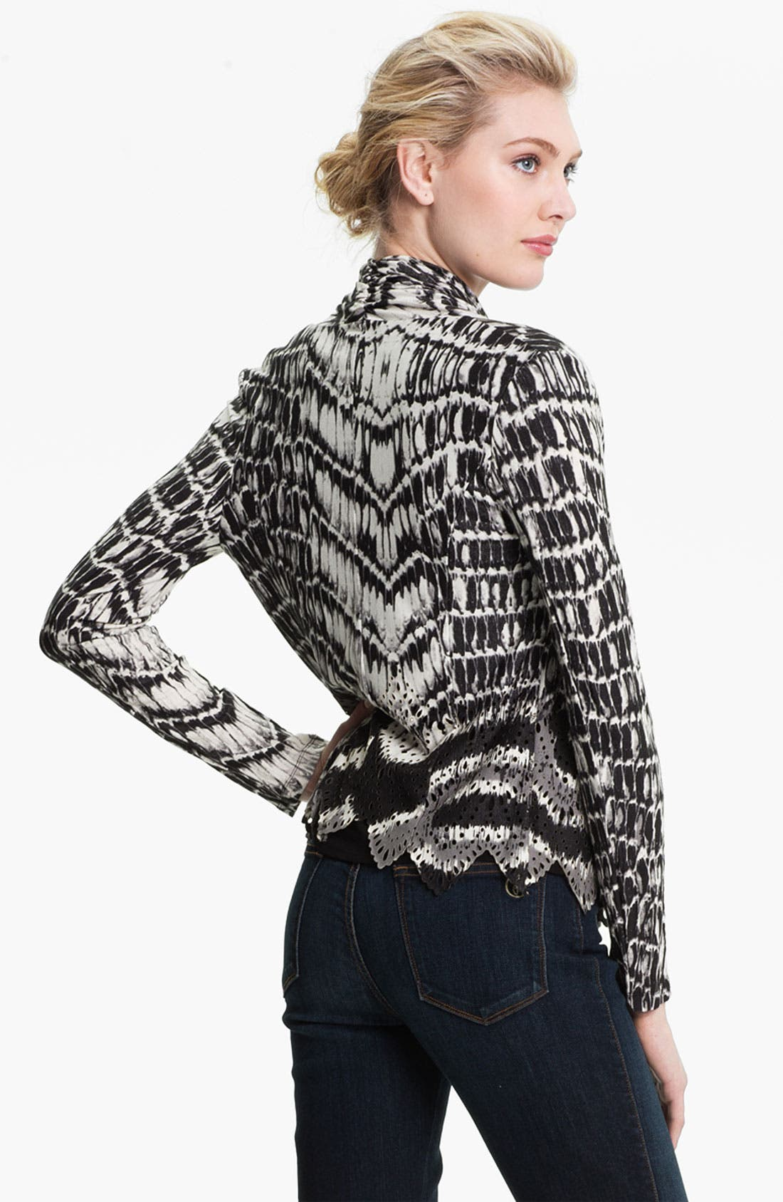 Alternate Image 2  - Alberto Makali Perforated Print Cardigan