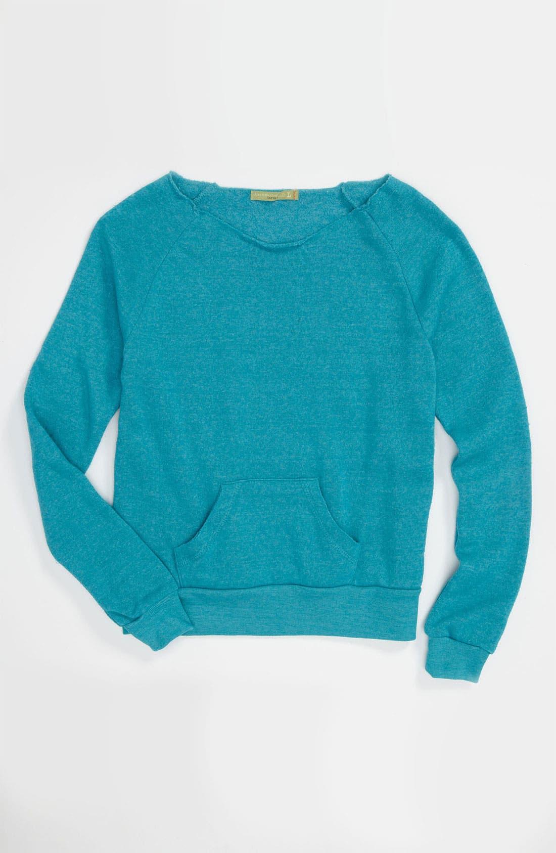 Alternate Image 1 Selected - Alternative 'Maniac' Fleece Sweater (Big Girls)