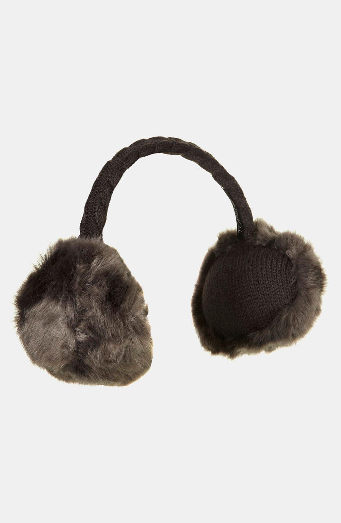 Main Image - Topshop Faux Fur Earmuffs