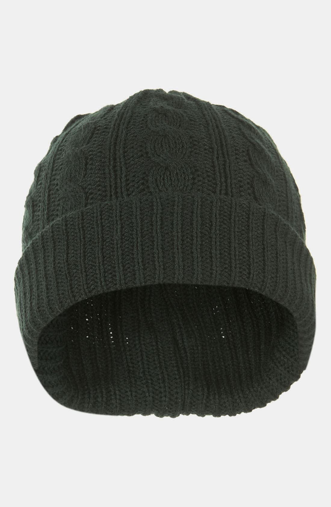 Alternate Image 2  - Topman Cable Knit Cap