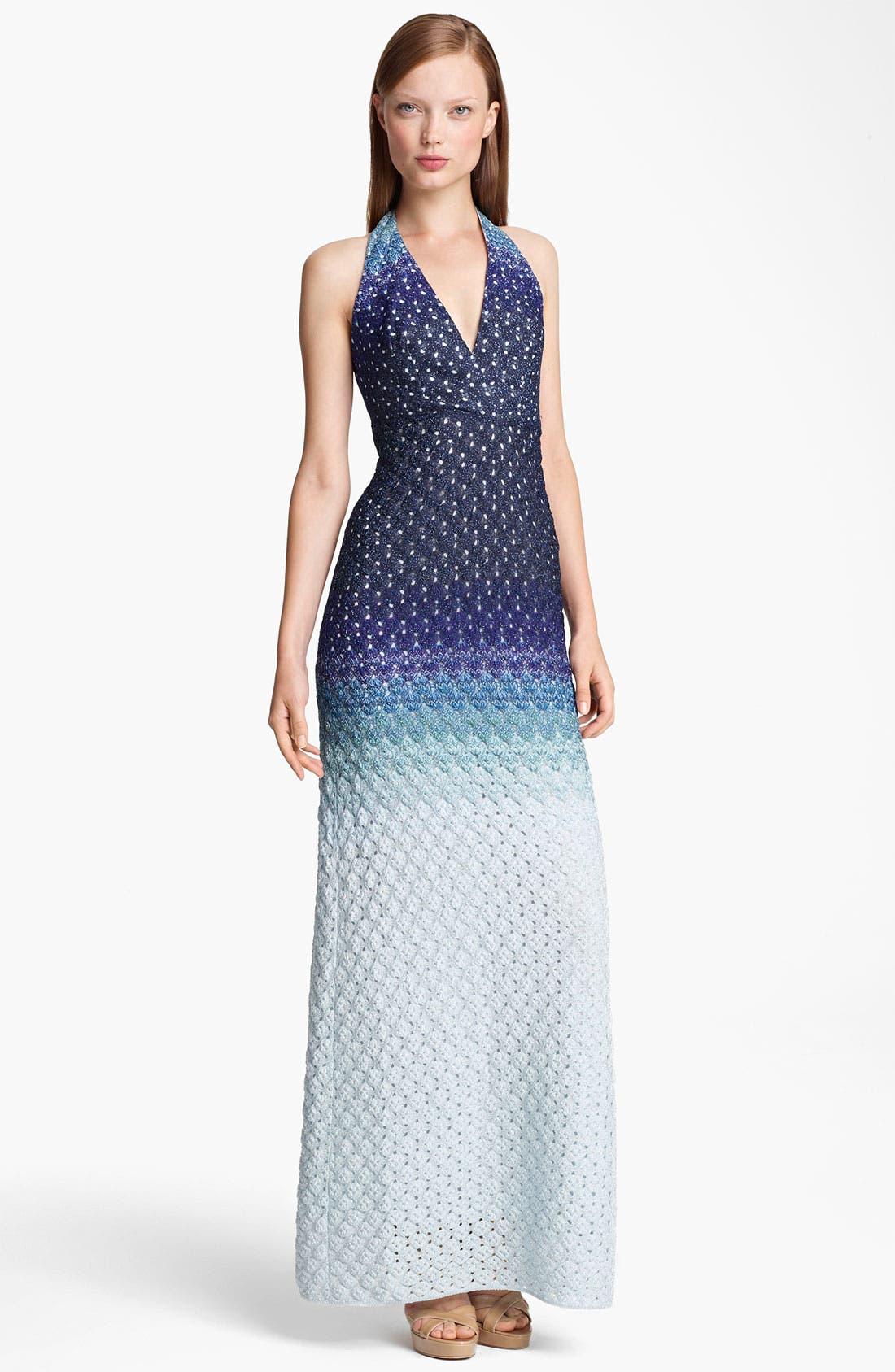Main Image - Missoni Dégradé Halter Gown