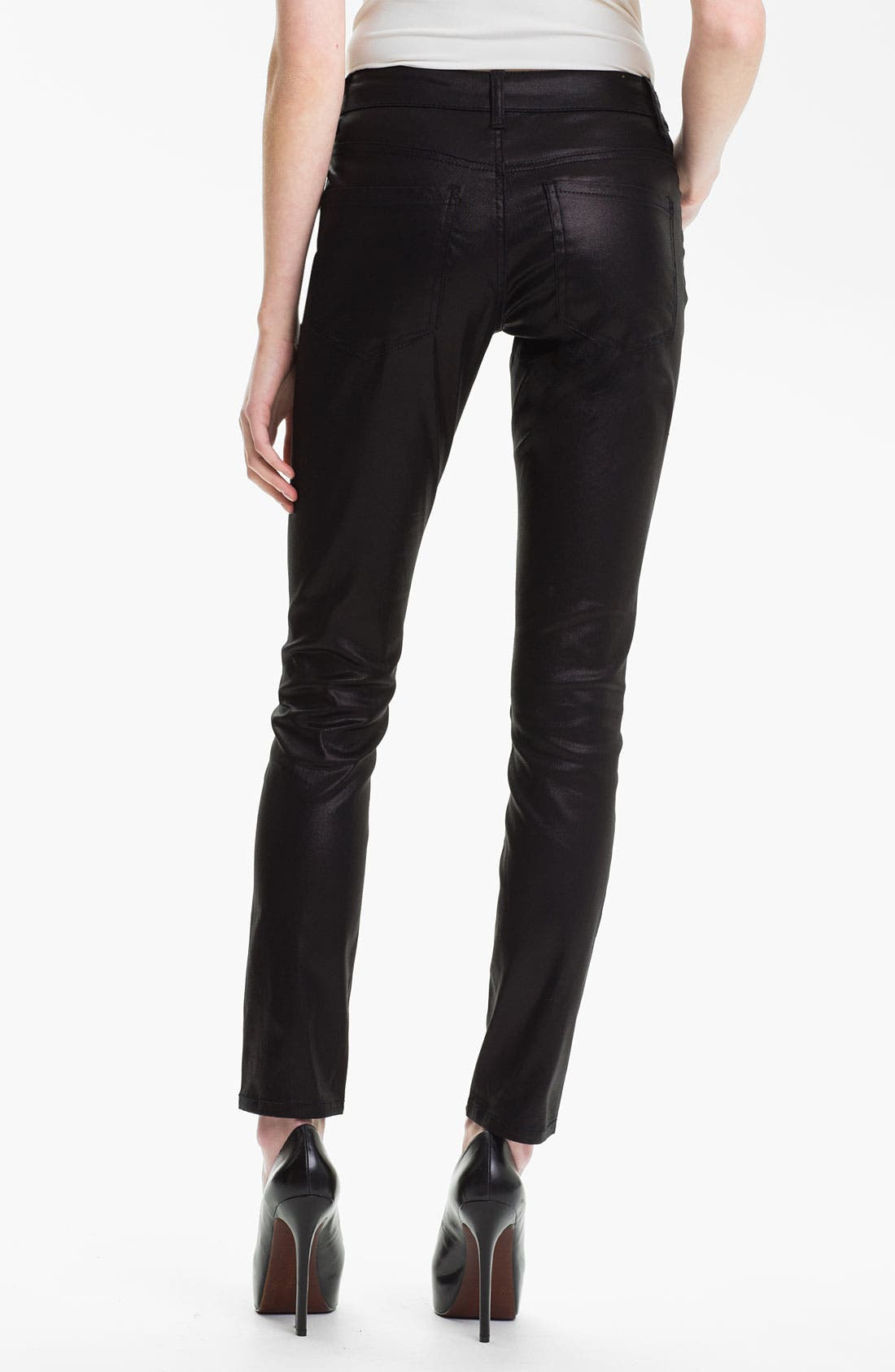 Alternate Image 2  - Liverpool Jeans Company 'Abby' Coated Skinny Jeans (Petite) (Online Only)