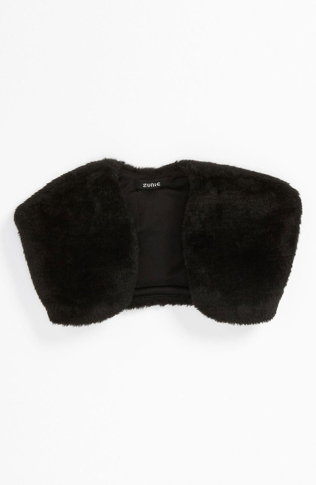 Alternate Image 1 Selected - Zunie Faux Fur Bolero (Toddler)