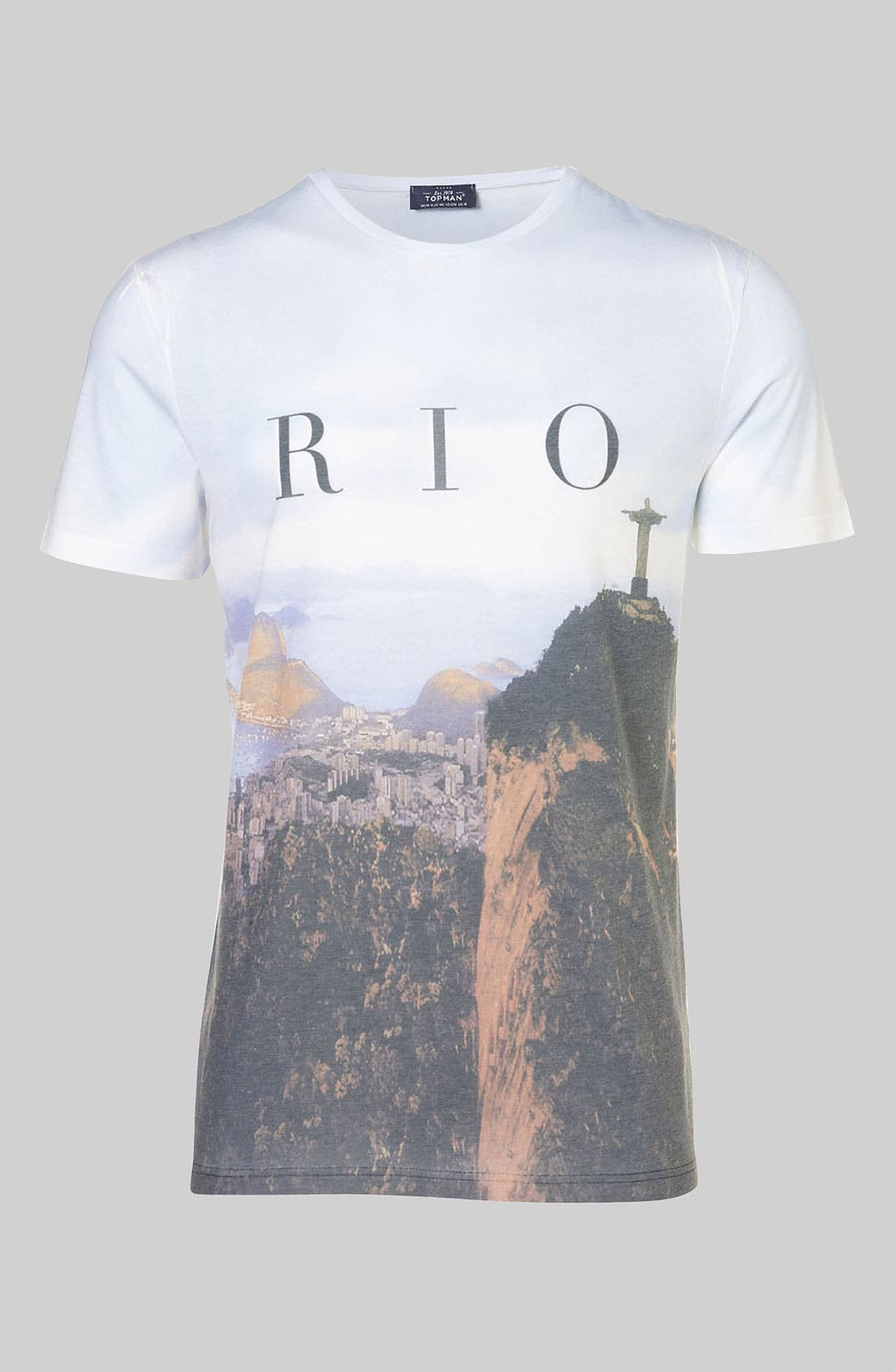 Alternate Image 1 Selected - Topman 'Rio Sublimation' Graphic T-Shirt