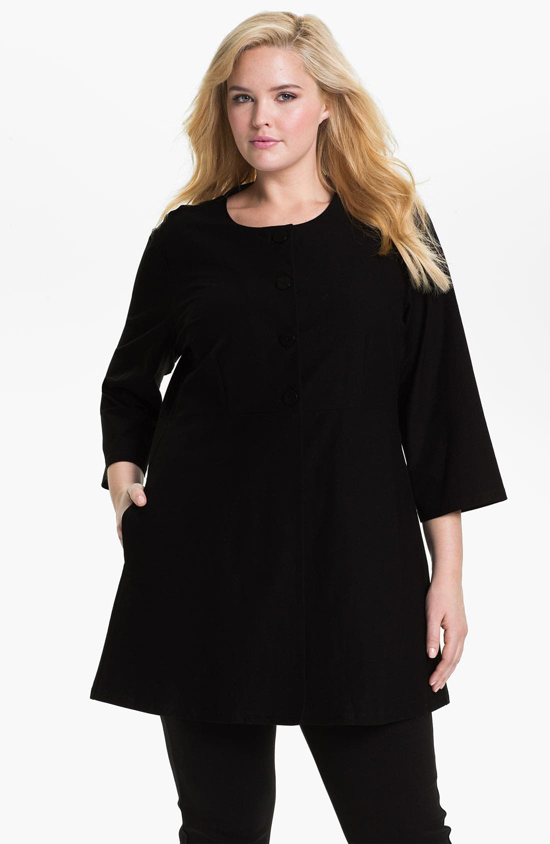 Main Image - Eileen Fisher Tunic Jacket (Plus)