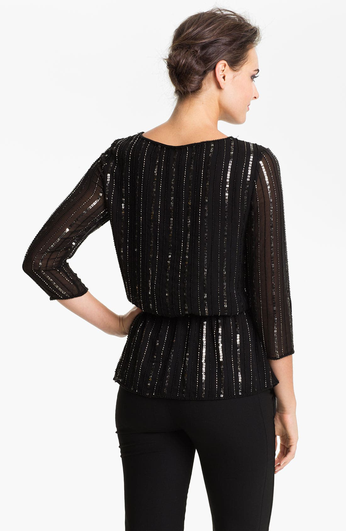 Alternate Image 2  - Adrianna Papell Sequin & Bead Chiffon Blouson Top