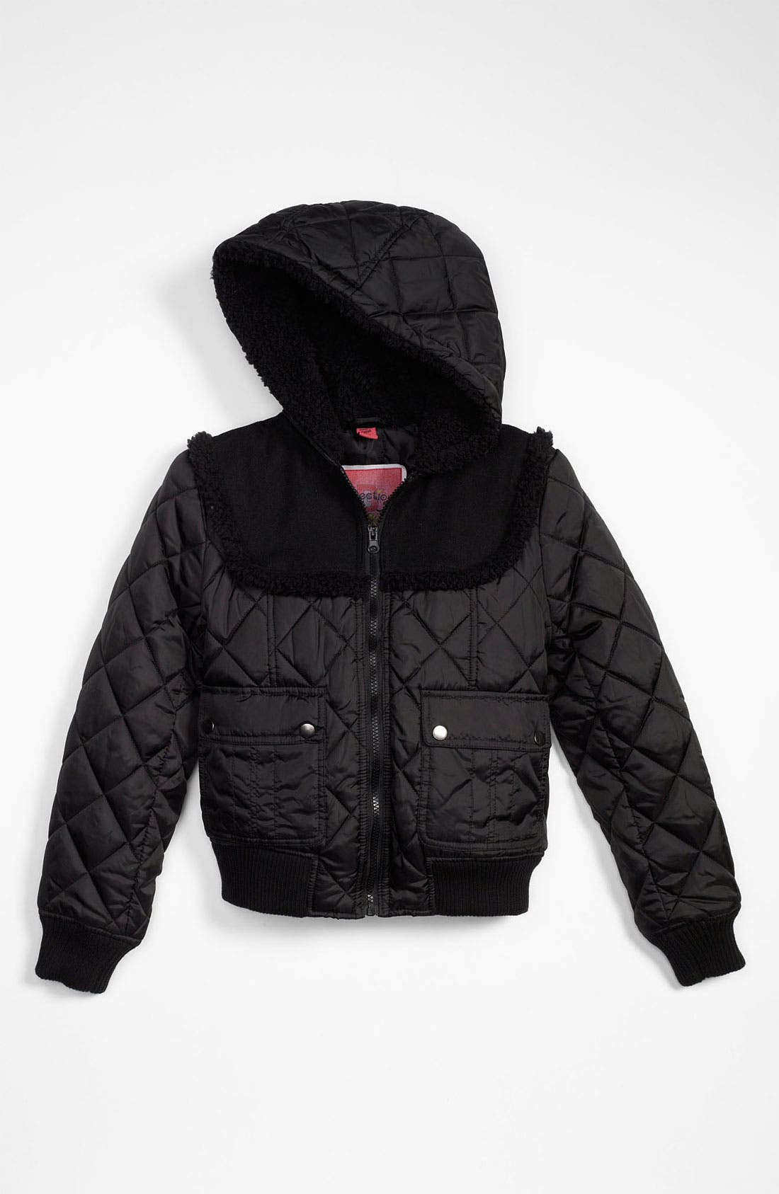 Alternate Image 1 Selected - Collection B Diamond Quilted Jacket (Big Girls)