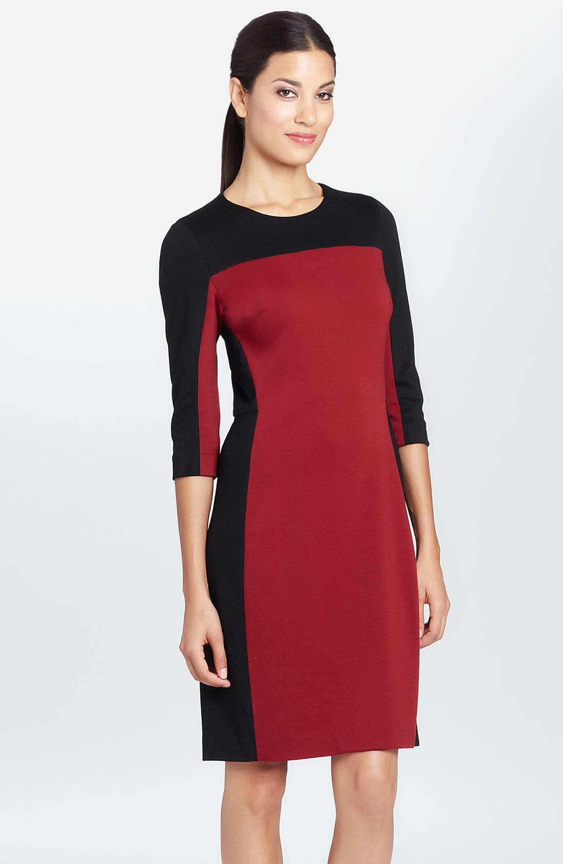 Alternate Image 1 Selected - Cynthia Steffe 'Selma' Colorblock Ponte Sheath Dress