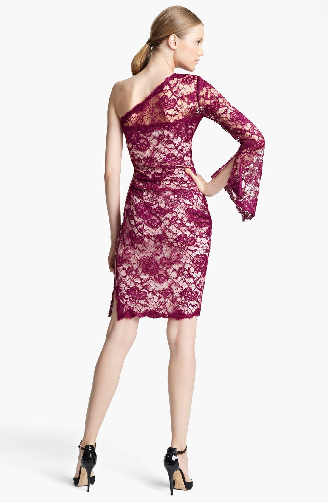 Alternate Image 2  - Emilio Pucci One Shoulder Lace Dress