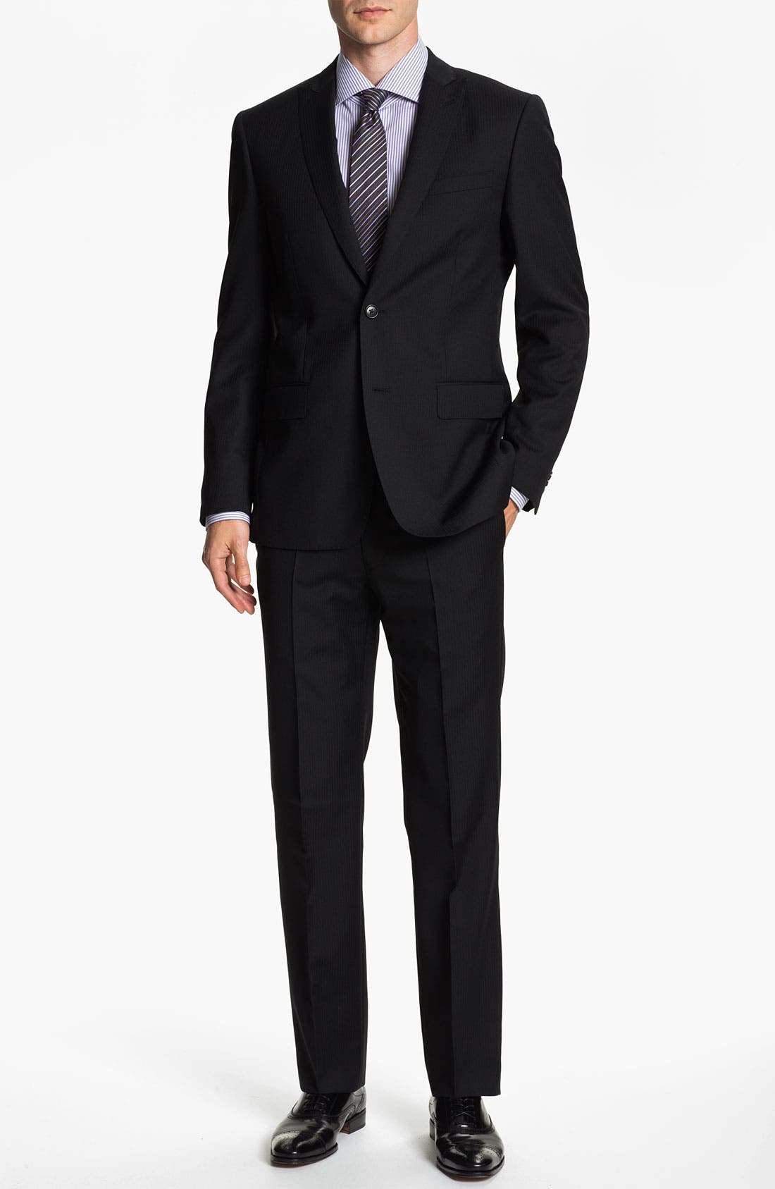 Alternate Image 2  - John Varvatos Star USA 'Berkley' Trim Fit Stripe Suit