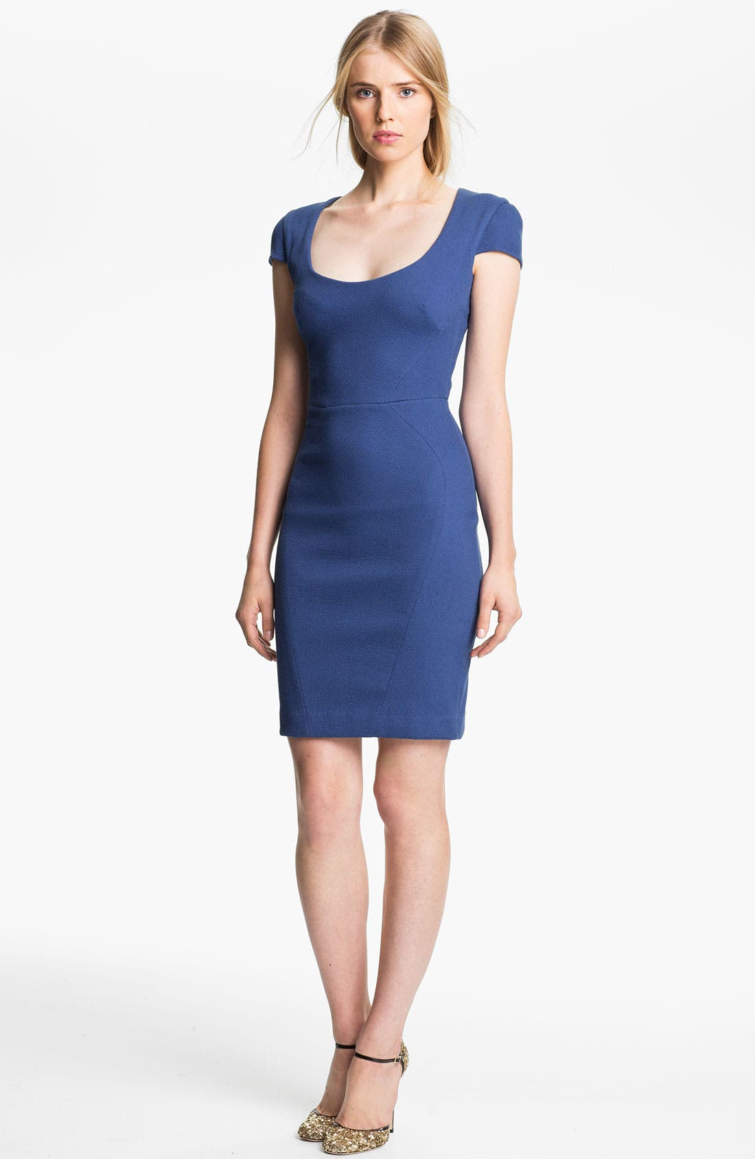 Main Image - L'AGENCE Cap Sleeve Sheath Dress