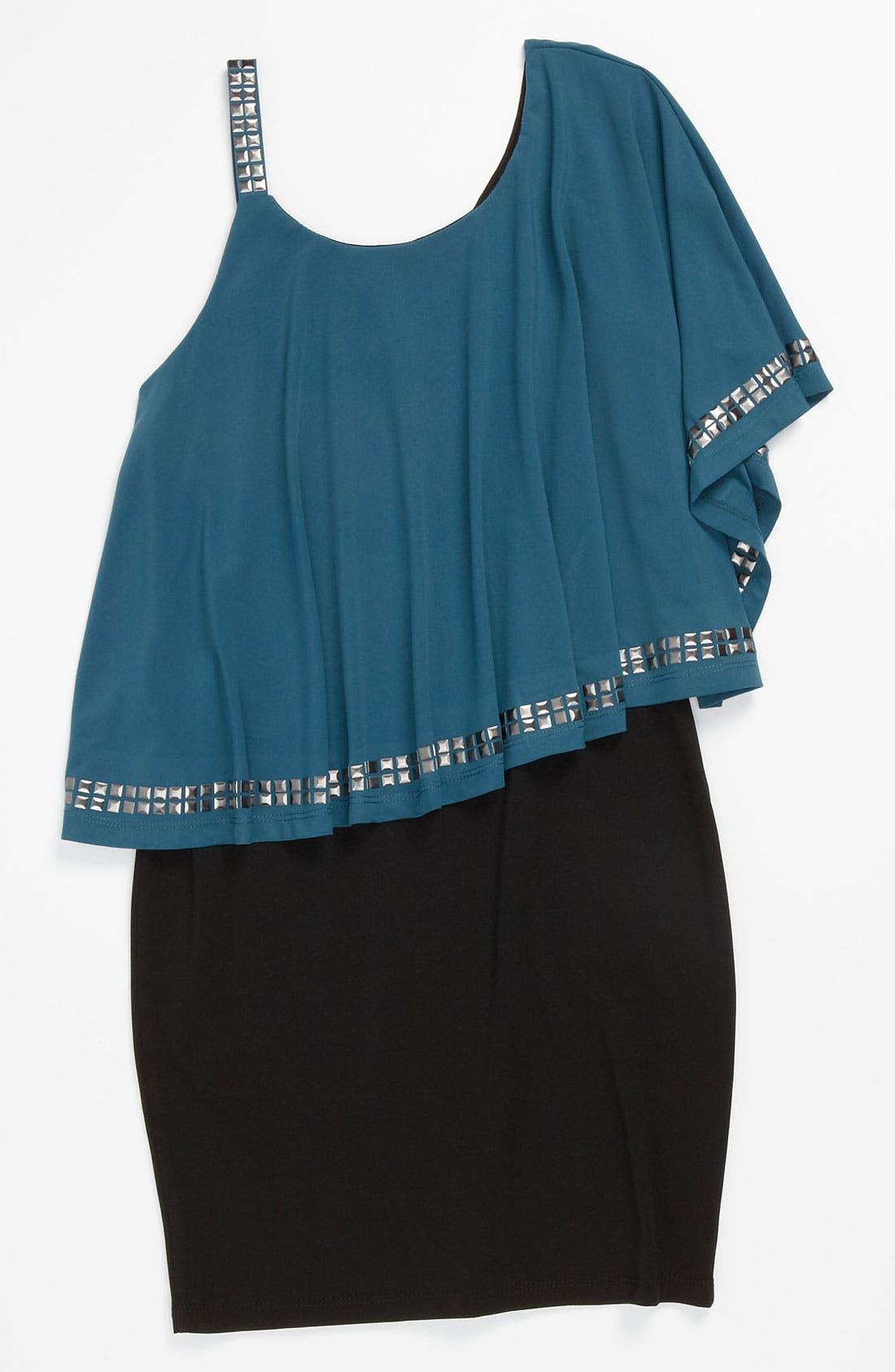 Main Image - Elisa B Ruffle Top Dress (Big Girls)