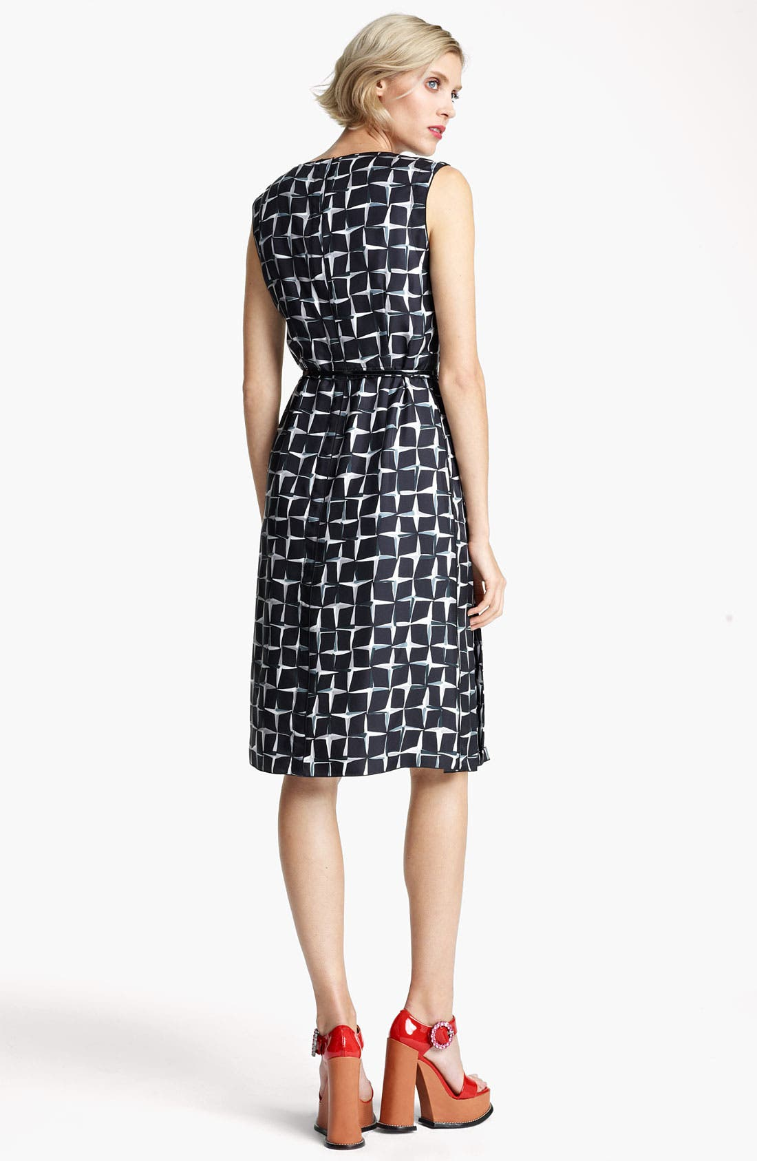 Alternate Image 2  - MARC JACOBS Diamond Print Silk Twill Dress