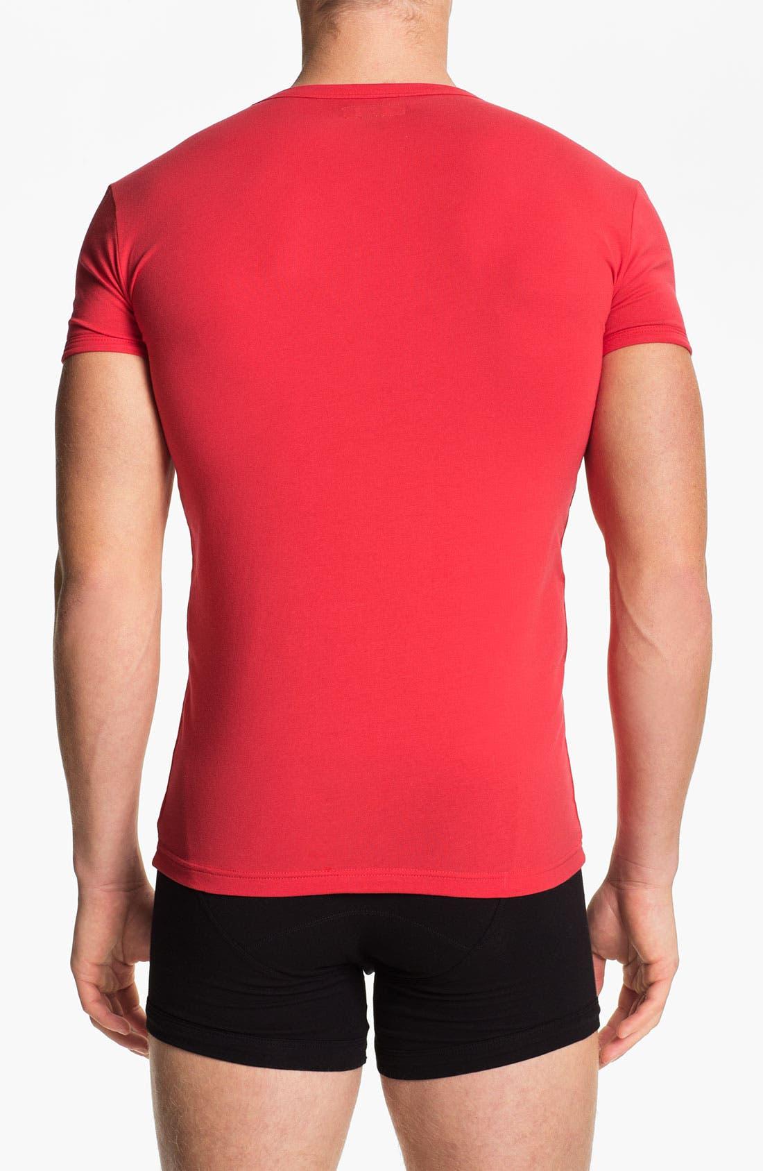 Alternate Image 2  - Emporio Armani V-Neck Stretch Cotton T-Shirt