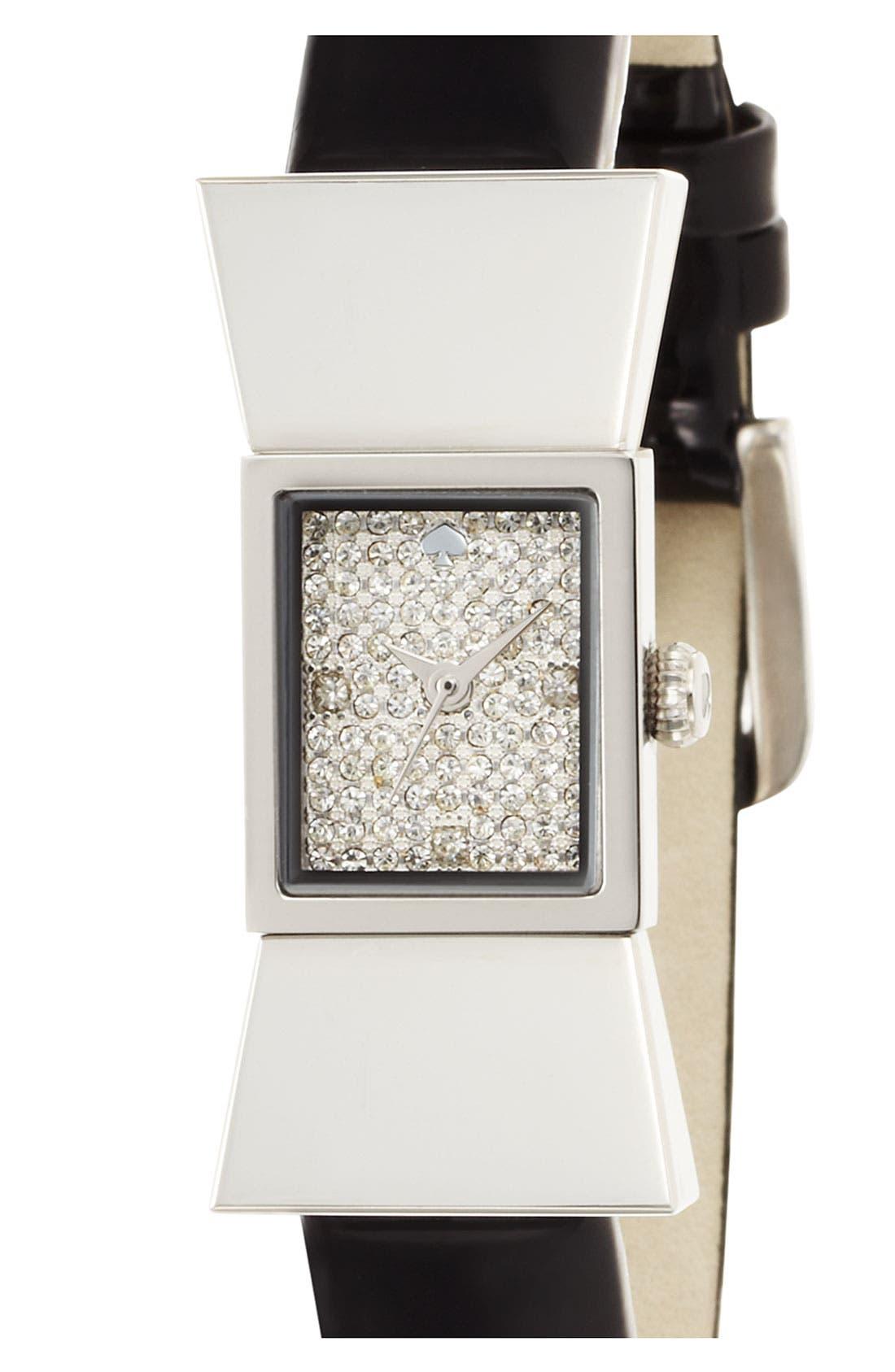 Alternate Image 2  - kate spade new york 'carlyle' pavé dial watch