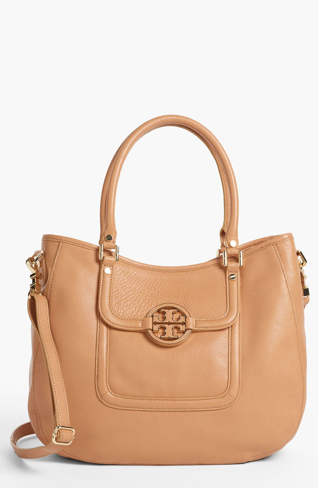 Main Image - Tory Burch 'Amanda - Angelux' Leather Hobo