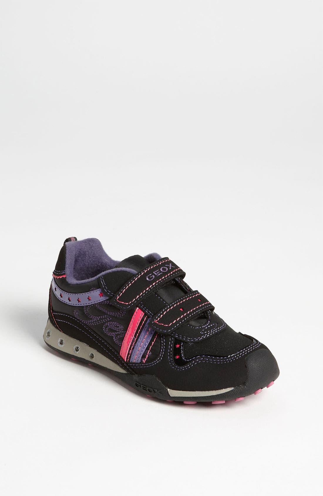 Alternate Image 1 Selected - Geox 'Jocker Girl' Sneaker (Toddler & Little Kid)