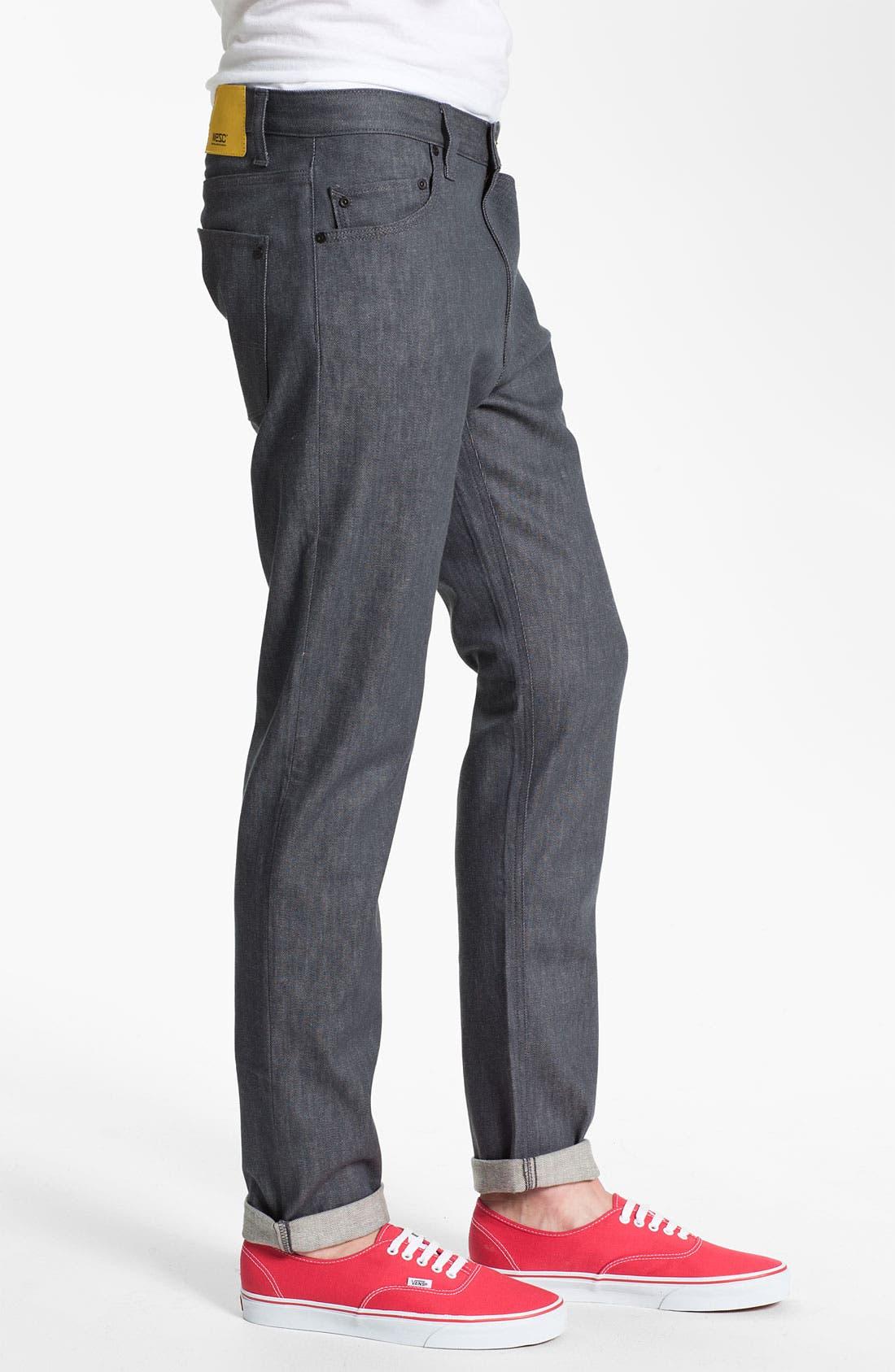 Alternate Image 3  - WeSC 'Eddy' Slim Fit Jeans (Raw Grey)