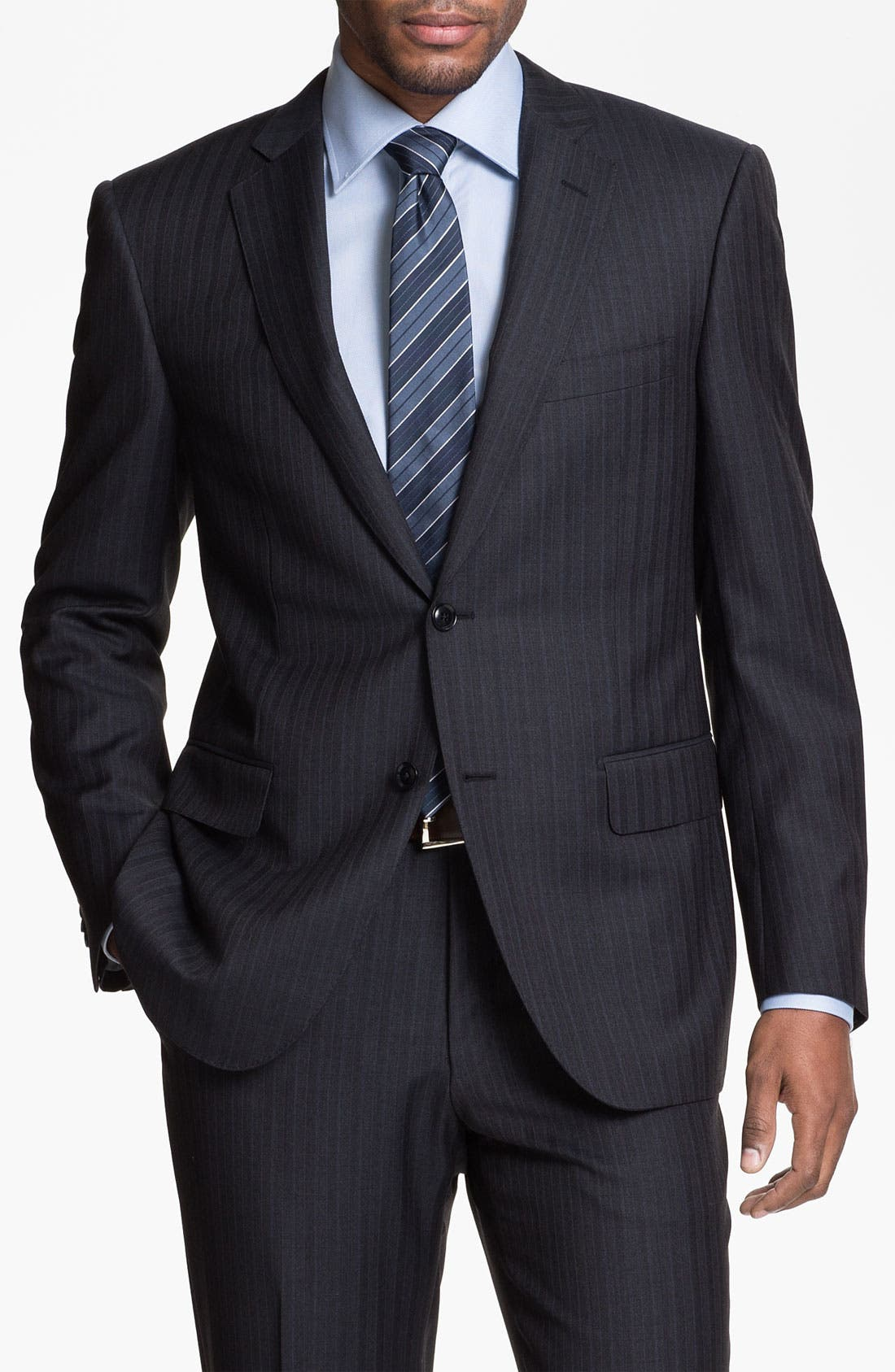 Main Image - Pal Zileri Trim Fit Stripe Suit