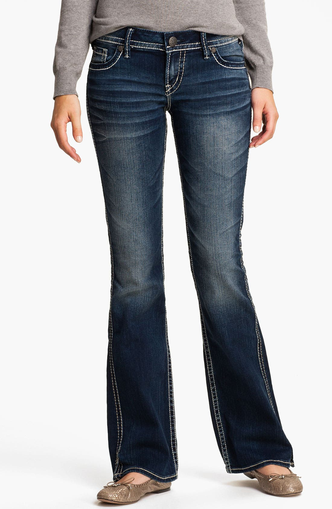 Alternate Image 2  - Silver Jeans Co. 'Twisted' Bootcut Jeans (Juniors)