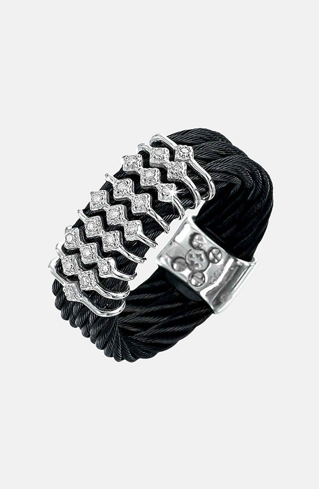 Alternate Image 1 Selected - ALOR® Diamond Triple Row Cable Ring