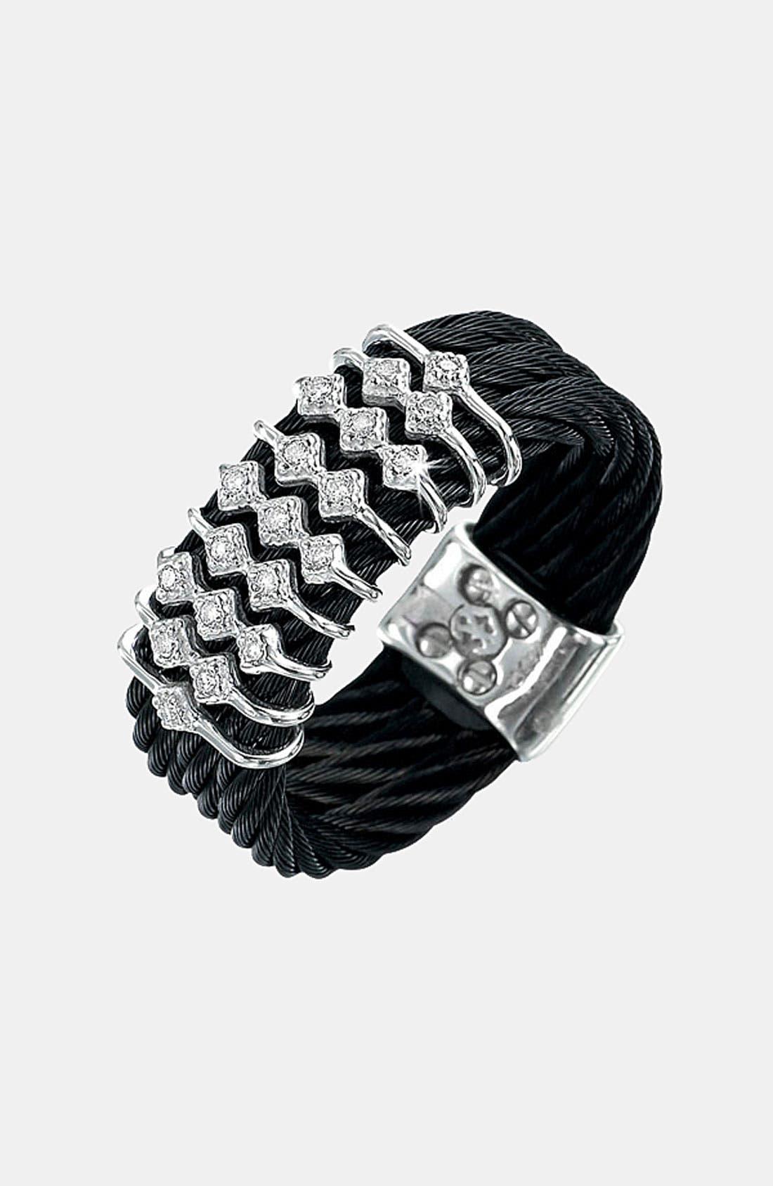 Main Image - ALOR® Diamond Triple Row Cable Ring