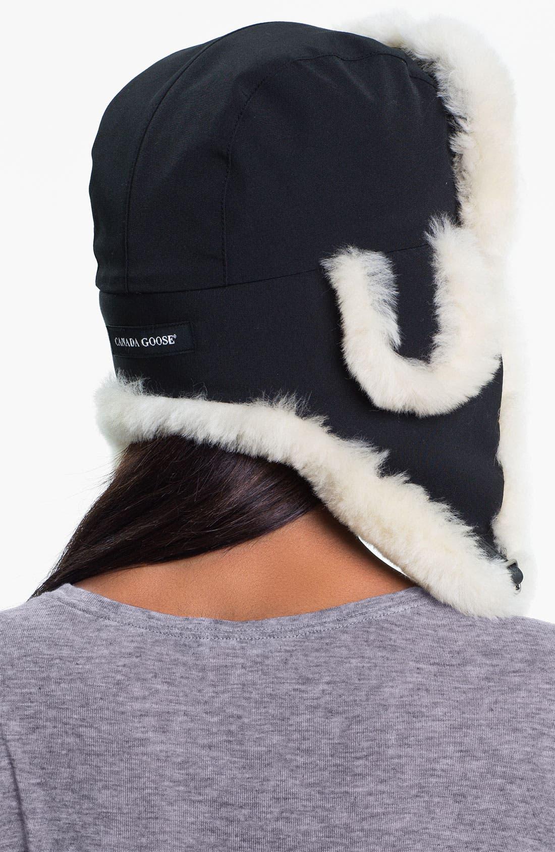 Alternate Image 2  - Canada Goose Genuine Shearling Pilot Hat