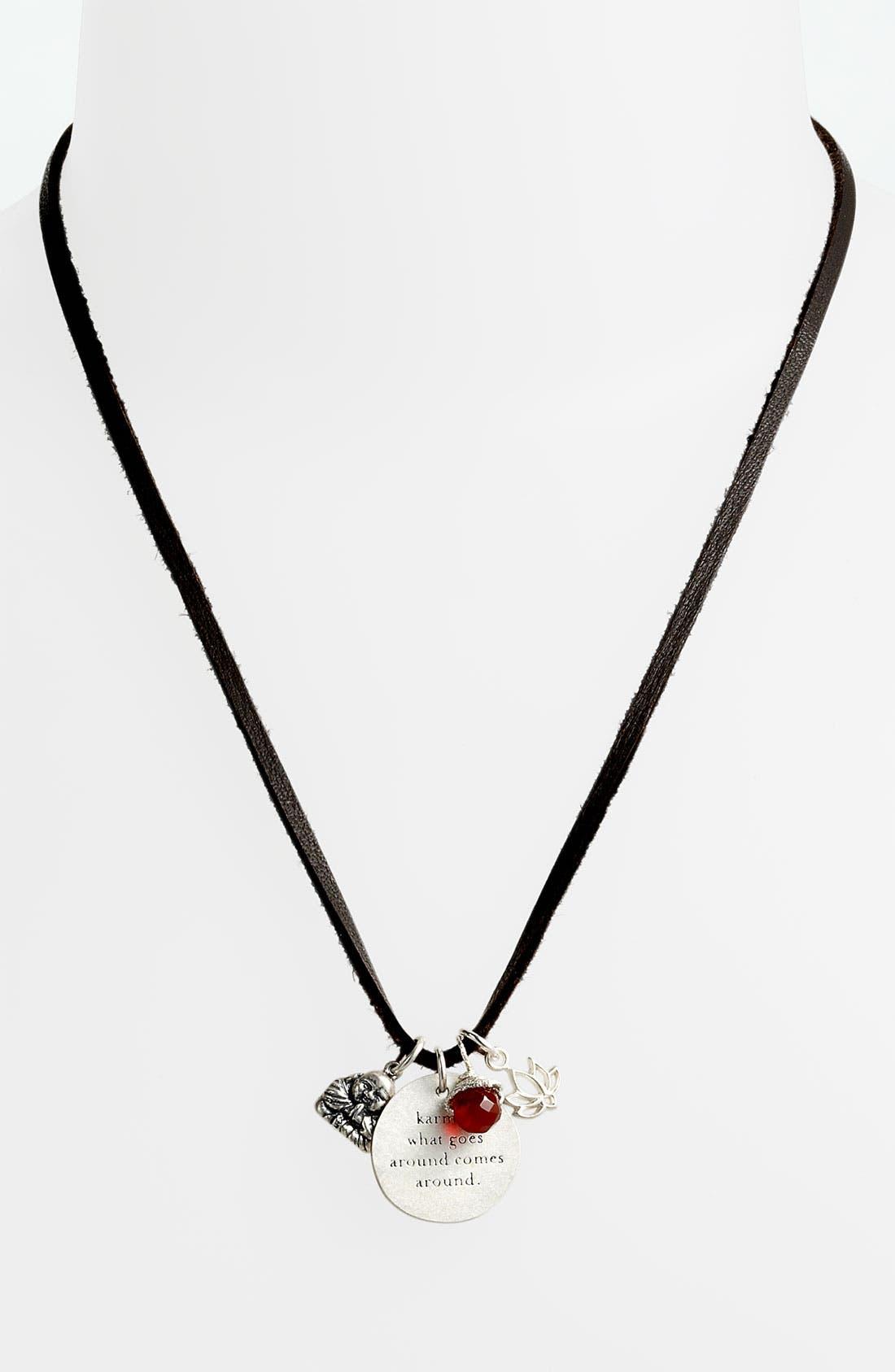 Alternate Image 2  - Dogeared 'Create' Long Leather Necklace