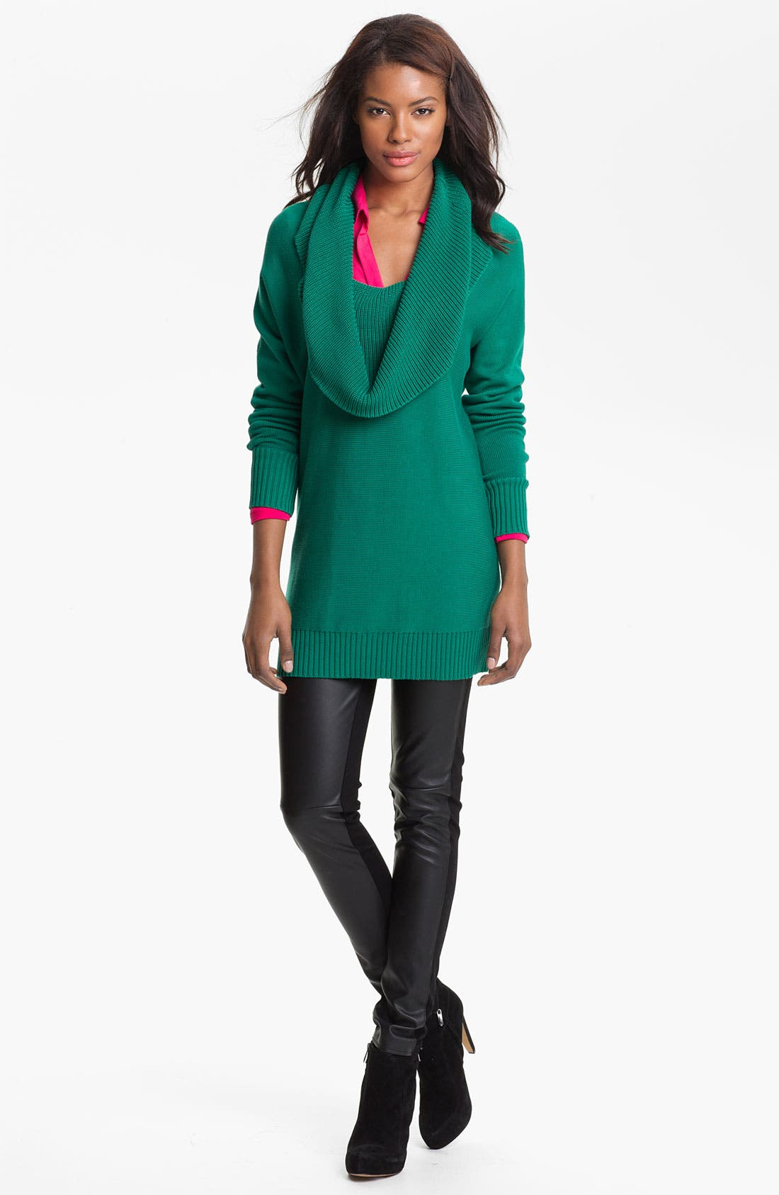 Alternate Image 4  - Two by Vince Camuto Faux Leather & Knit Leggings