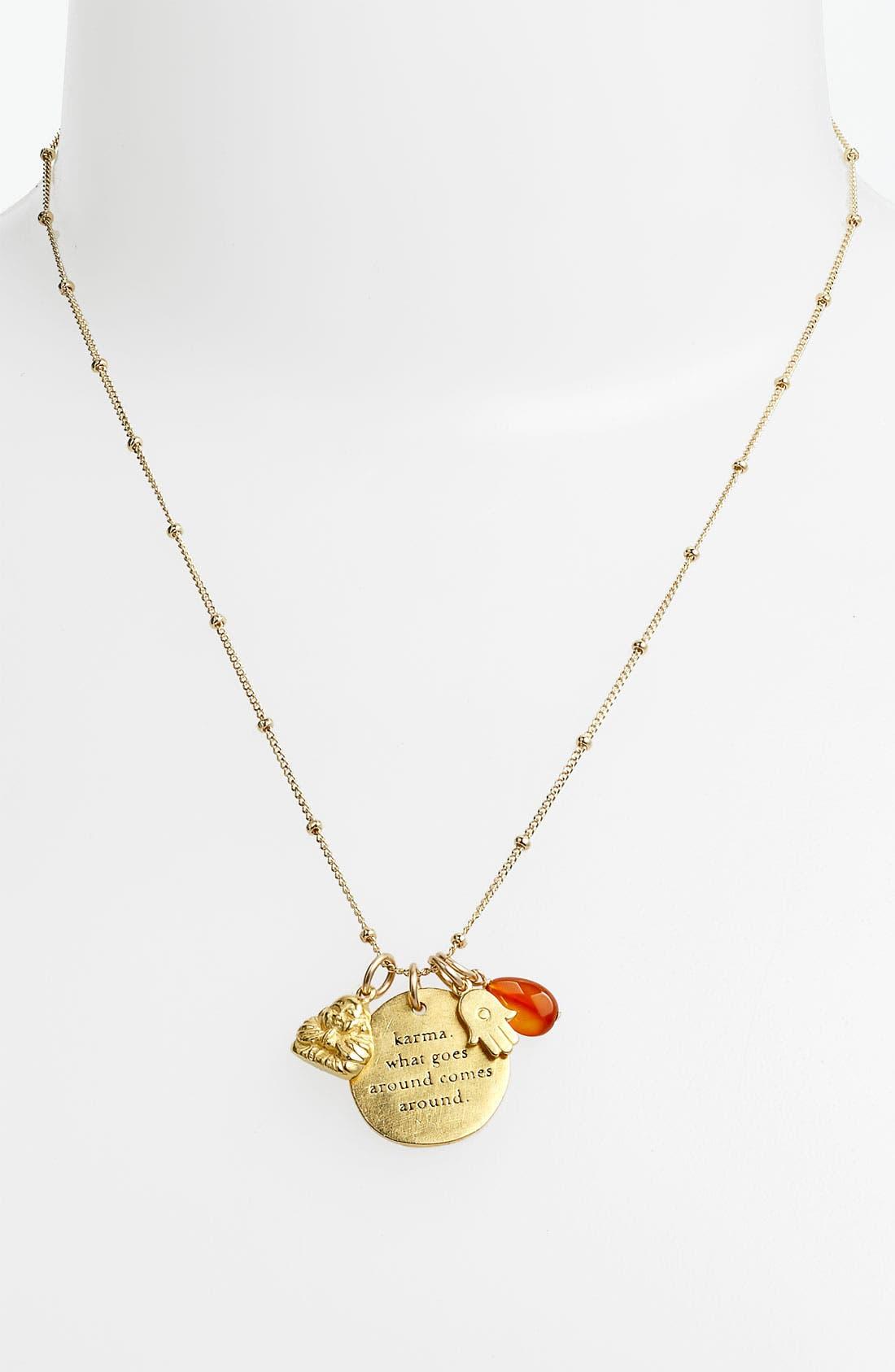 Alternate Image 2  - Dogeared 'Create' Beaded Link Necklace