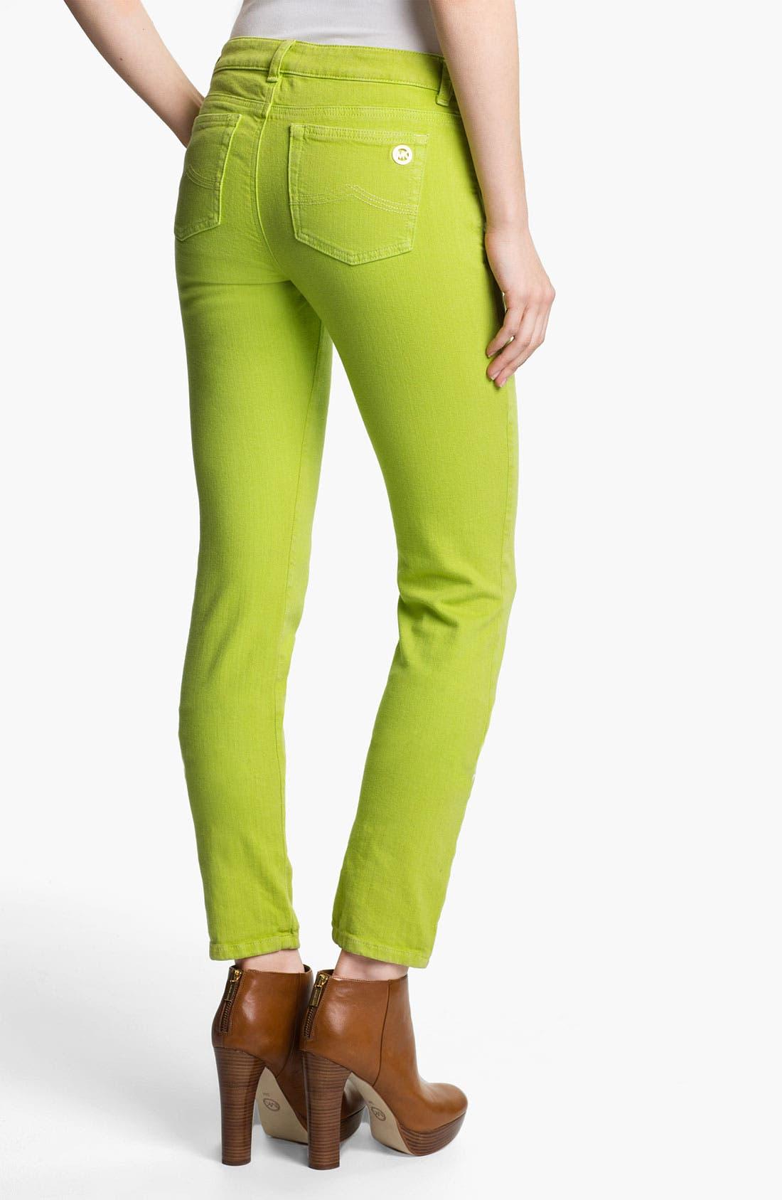 Alternate Image 2  - MICHAEL Michael Kors Color Skinny Jeans (Petite)