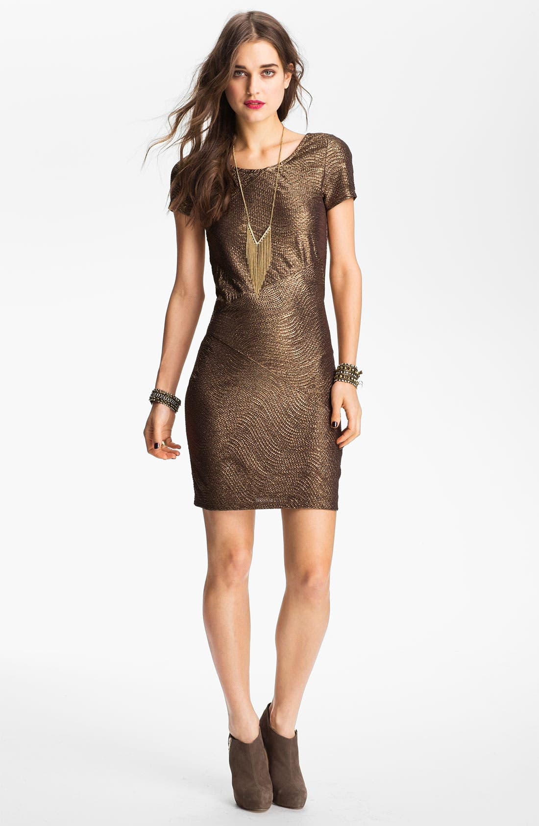 Main Image - Free People 'Daydream' Metallic Tunic