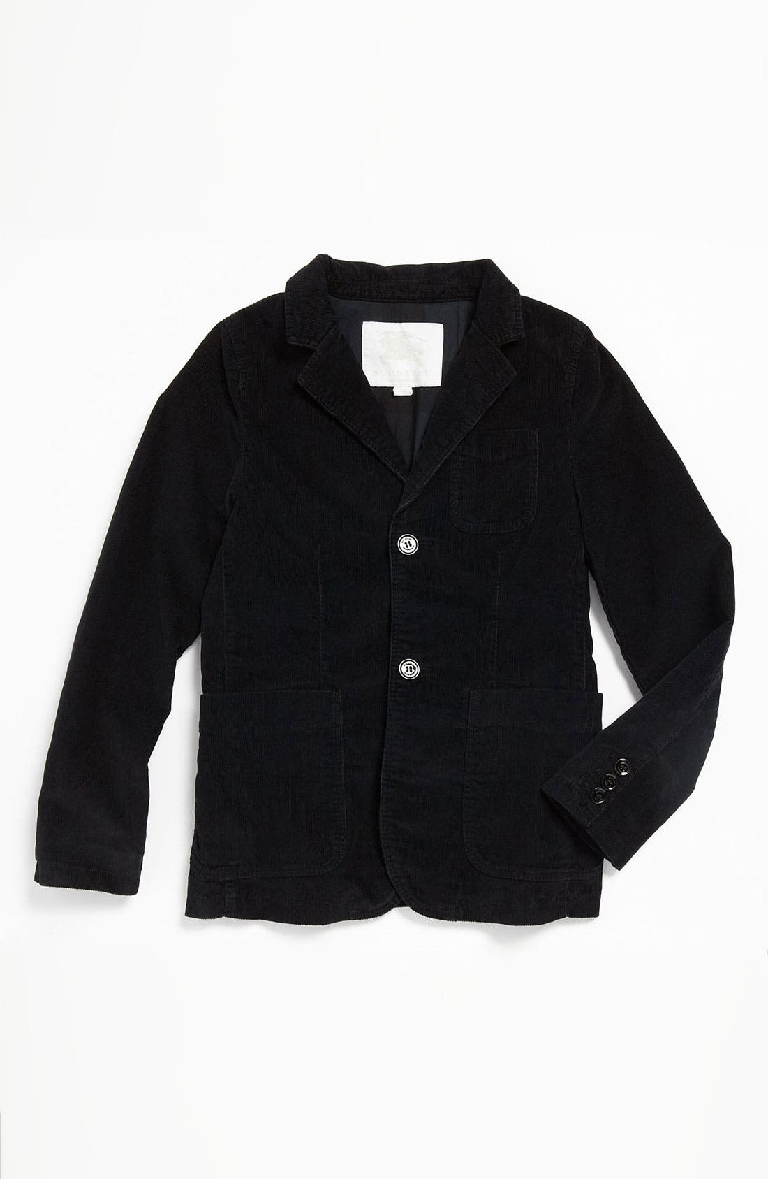 Alternate Image 1 Selected - Burberry Tailored Corduroy Jacket (Big Boys)