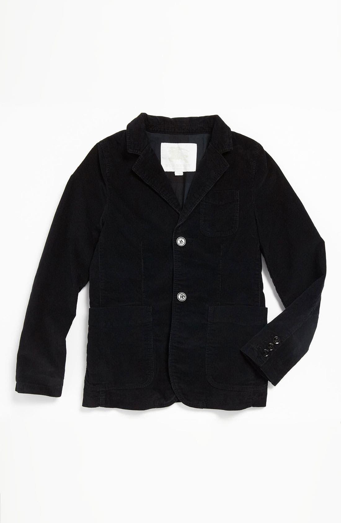 Main Image - Burberry Tailored Corduroy Jacket (Big Boys)