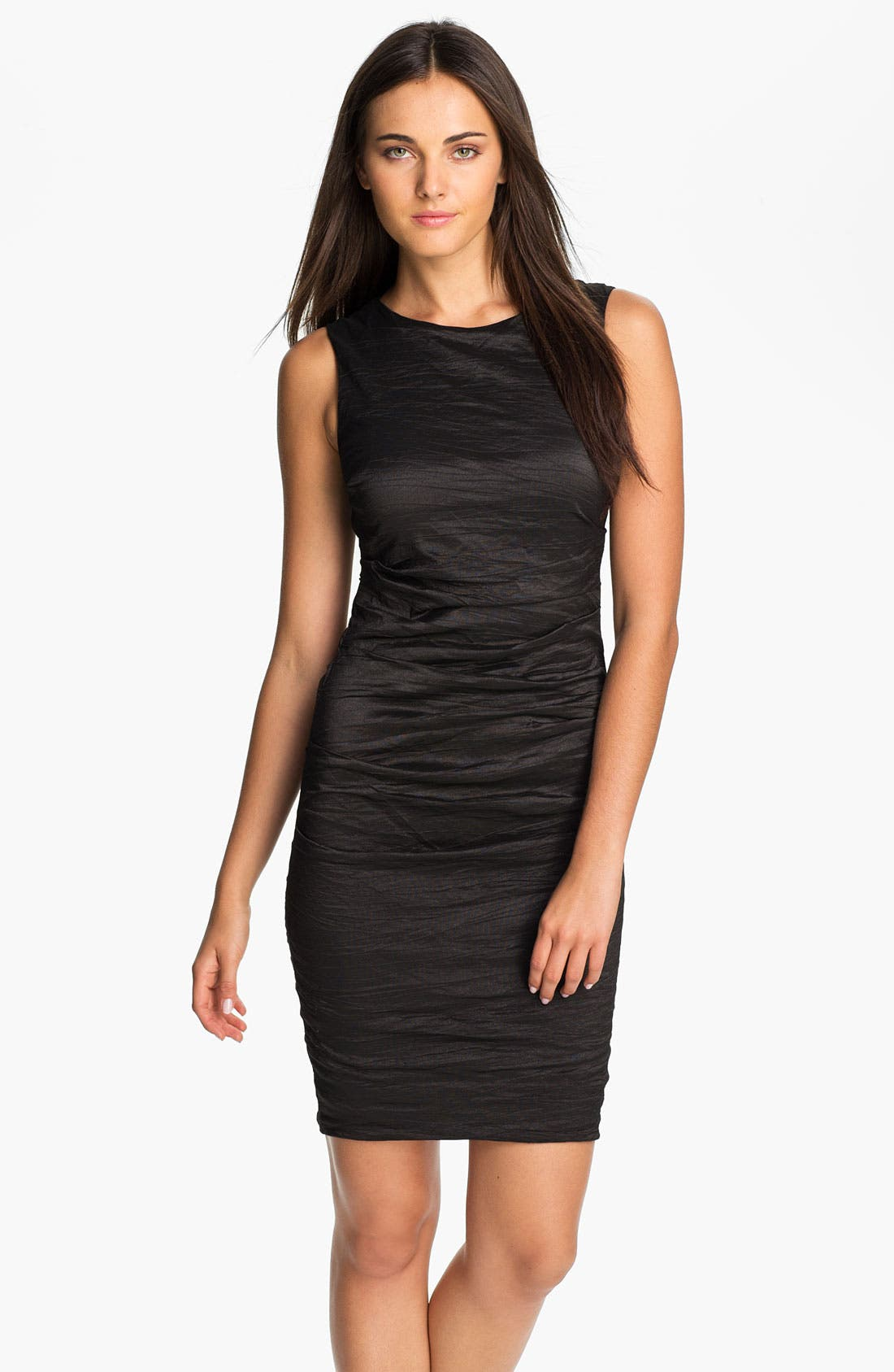 Alternate Image 1 Selected - Nicole Miller Metallic Woven Sheath Dress