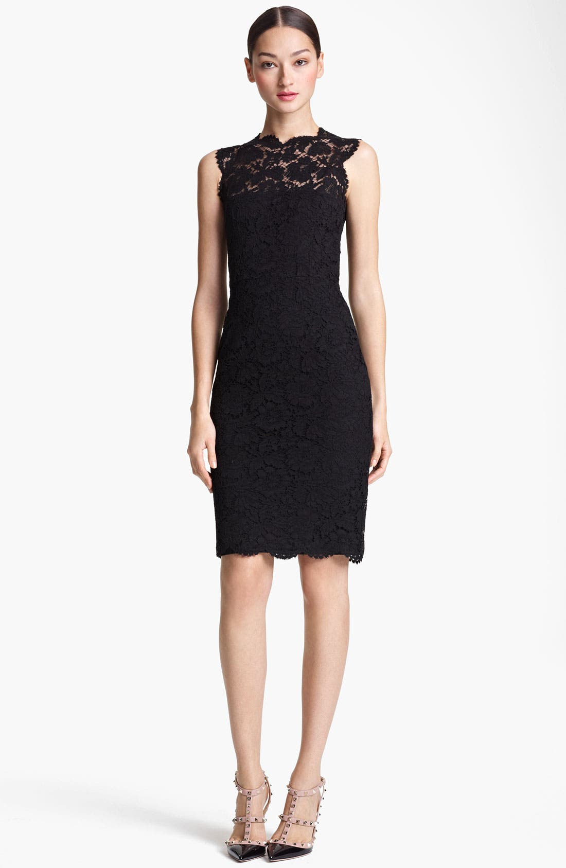 Main Image - Valentino Lace Sheath Dress